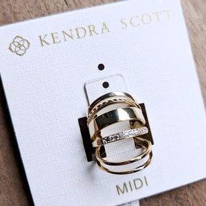 🆕NWT Kendra Scott Kara 14k Gold Plate Midi Rings